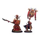 Skorne Tyrant Commander & Standard Bearer (2) Blister