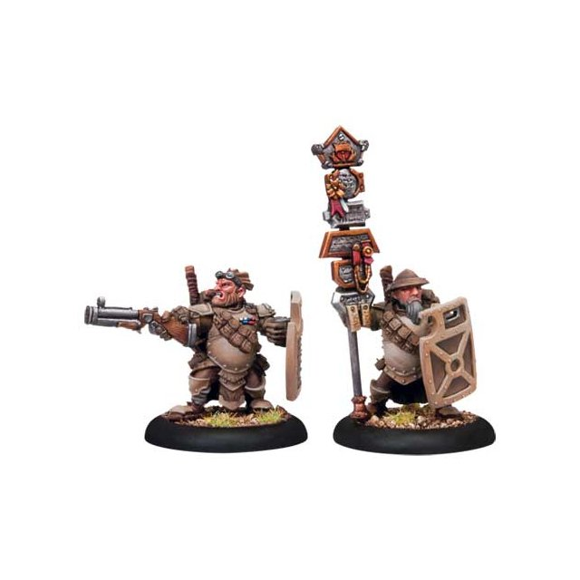 Mercenary High Shield Gun Corps Officer & Standard Bearer