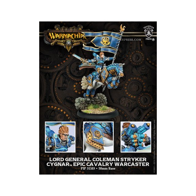 Cygnar Epic Cavalry Warcaster Lord General Colemen Stryker
