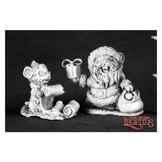 Santa Mousling and Helper