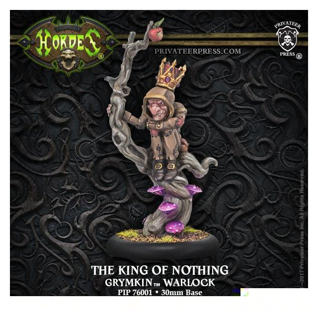 Grymkin The King of Nothing Warlock RESIN Blister Pack