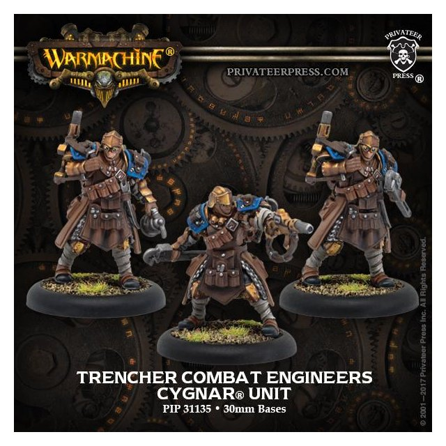 Trencher Combat Engineers Cygnar Unit (resin/metal)