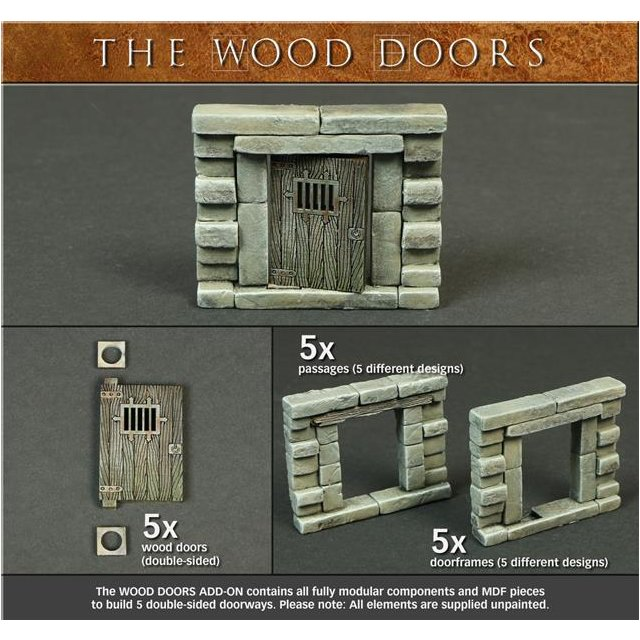 Modular Dungeon - Wood Doors Add-On