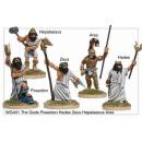 The Gods Poseidon, Hades, Zeus, Hepataesus and Ares