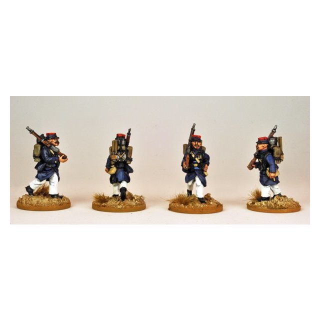 Marching Legion in uncovered Kepi with backpack
