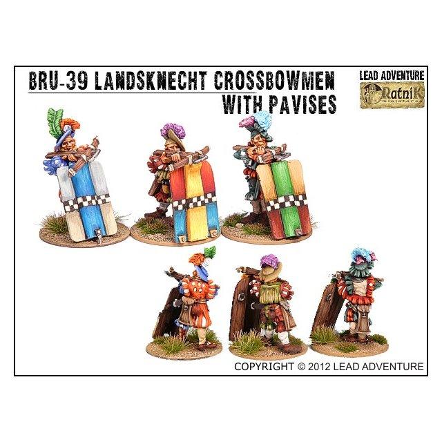 BRU-39 Landsknecht Crossbowmen with pavises (3)