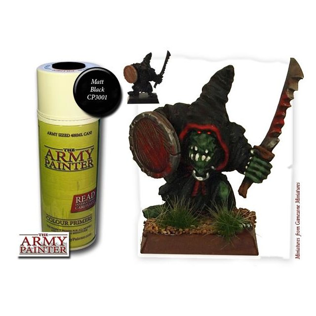 Army Painter Matt Schwarz/Black Grundierung Undercoat Primer