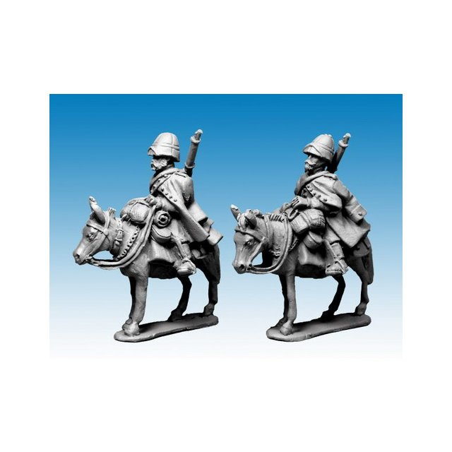 Legion Mounted Company in greatcoats and sun helmet