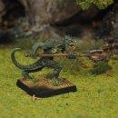 Lizardman Warrior III, advancing, with trident