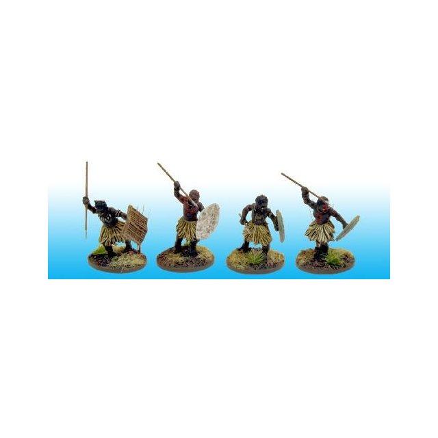 NSA5001 North Star Africa Congo Tribal Spearmen