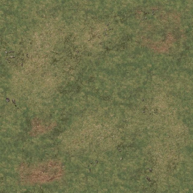 Grassy Fields Gaming Mat 2x2 v.1