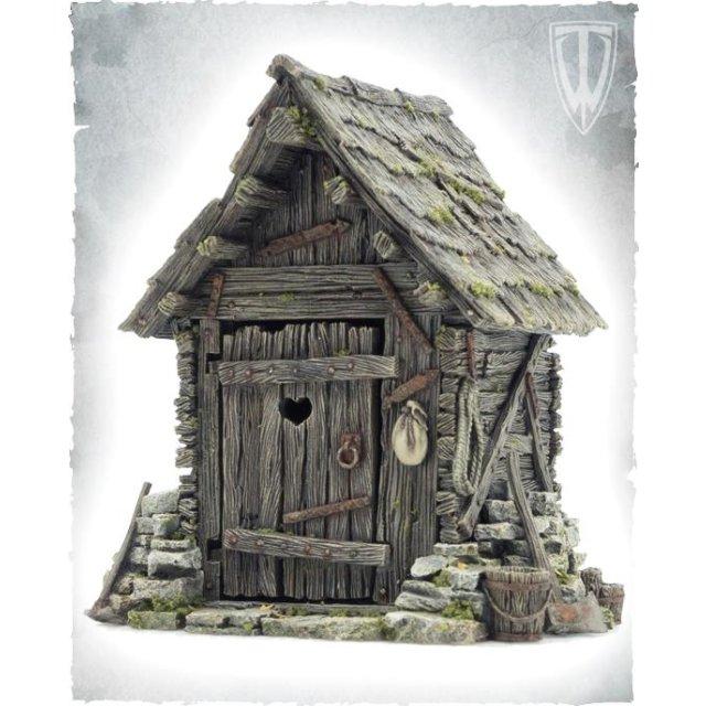Outhouse -Toiletten Häuschen