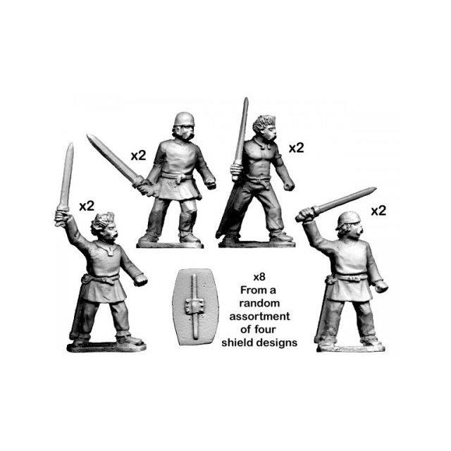 Unarmoured warriors with Swords