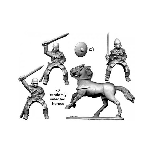 Mounted Armoured Nobles with Swords
