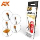 AK Survival Weathing Brush Set