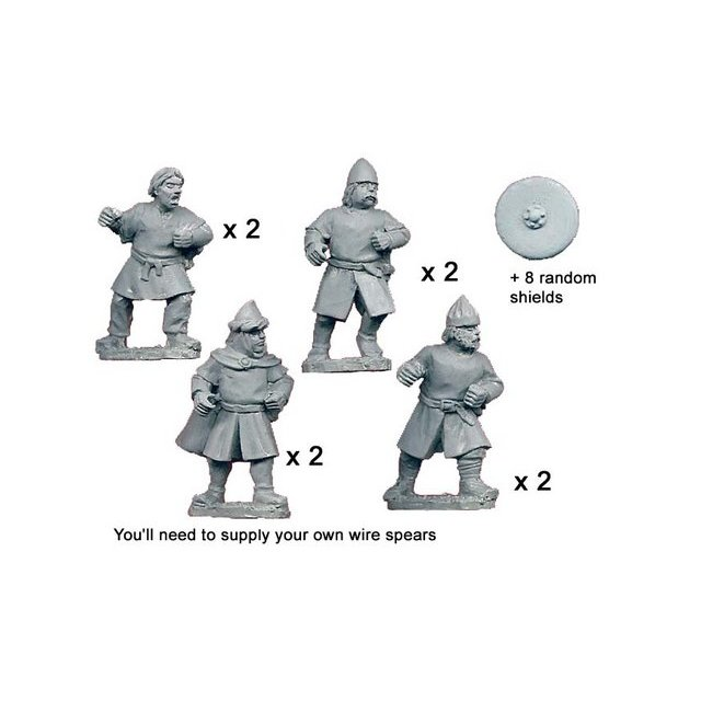 Unarmoured Spanish Spearmen (8)