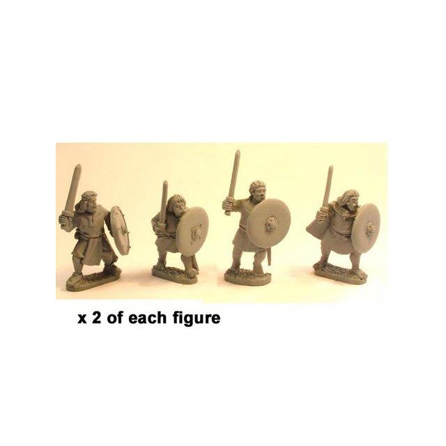 Irish Noble Warriors with swords & shields (8)
