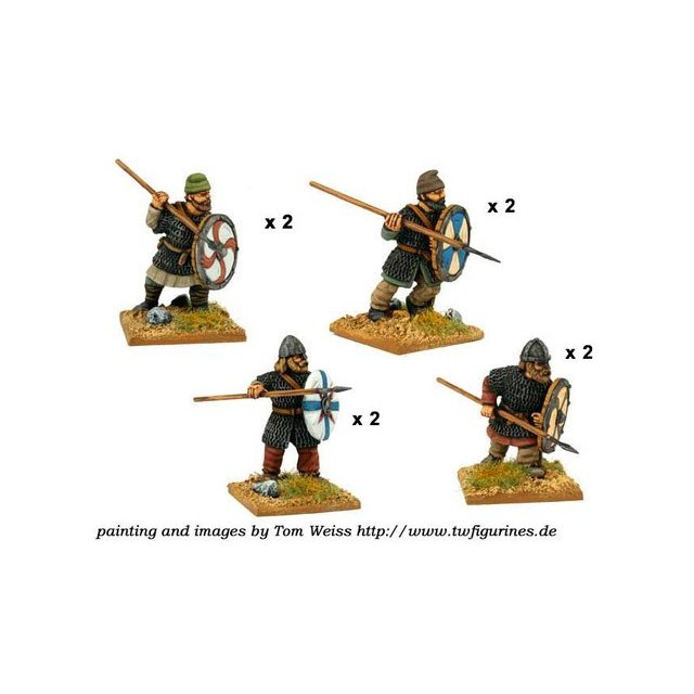 Saxon Thegns with Spears (8)