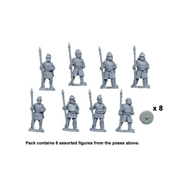Saxon Fyrd/Thegns with spears upright (8)