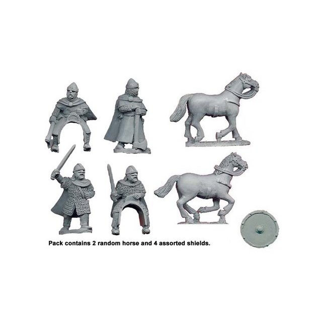 Saxon Personalities Harold & Tostig (2 foot, 2 Mtd)