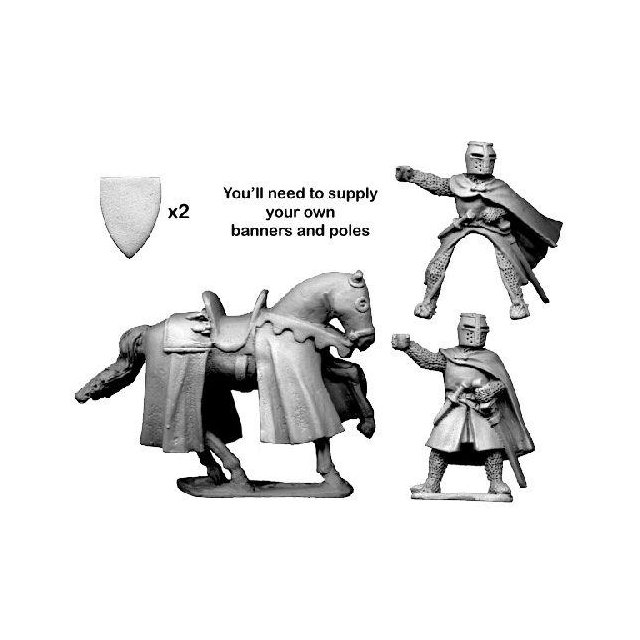 Knight bearing banner