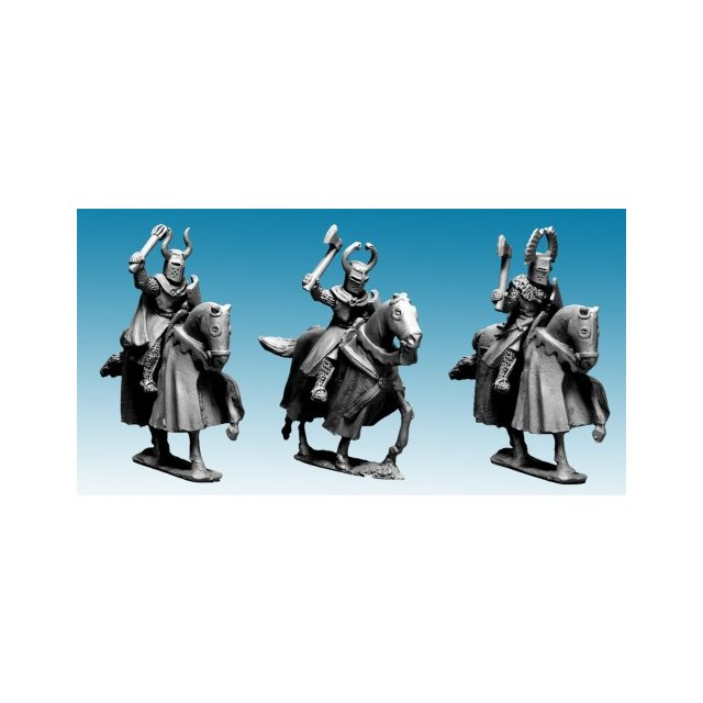 Mounted Teutonic Knights with Axes and Maces (3)