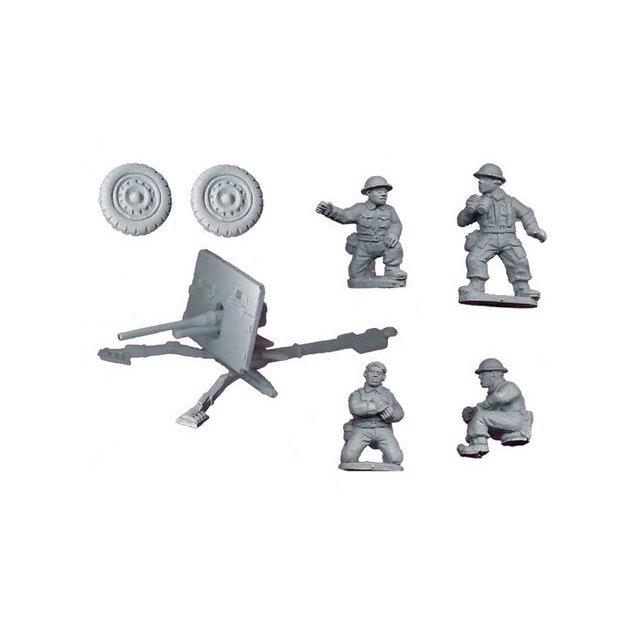 British 2pdr AT gun and crew (1AT Gun, 4 crew)