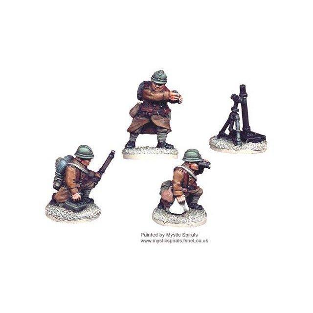 French 81mm Mortar (1 Mortar, 3 crew)