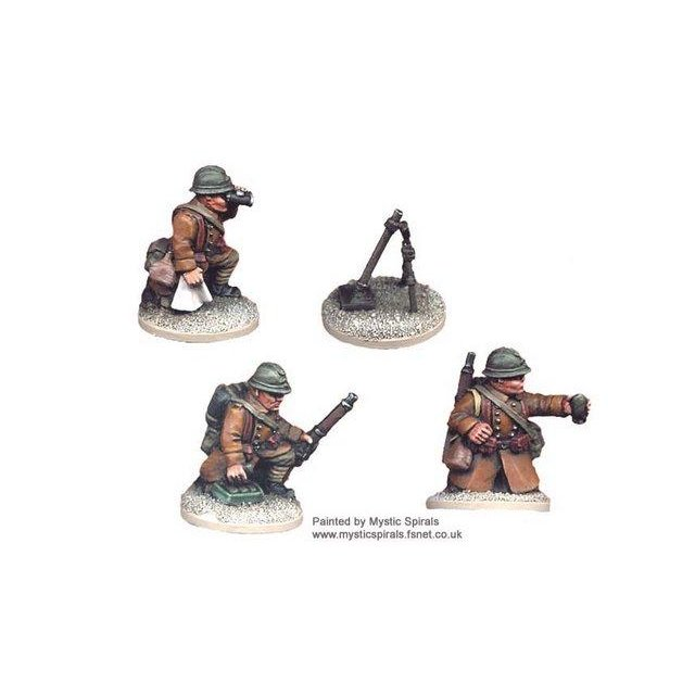 French 60mm Mortar & crew (1 mortar, 3 crew)