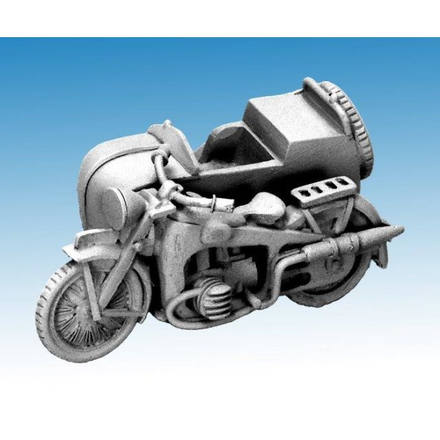 French Motorcycle and Sidecar Gnome et Rhône AX2 Motorcycle and