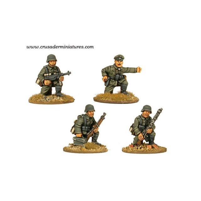 German MG34 Team & Command Kneeling (4)