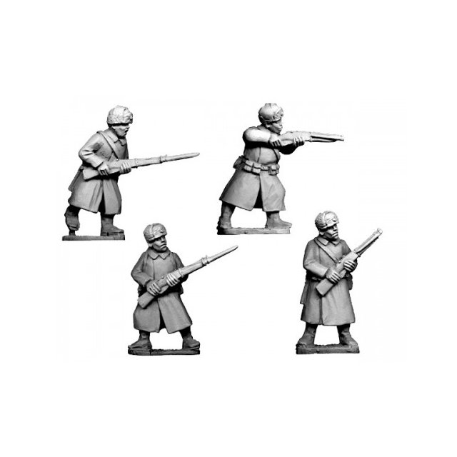Russian Infantry in Coats and Fur Hatscoats (4)