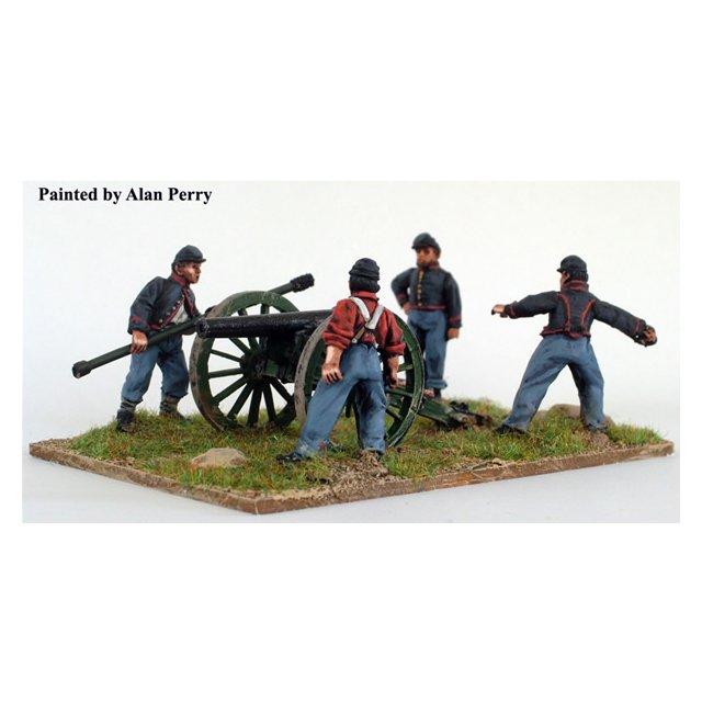 Union artillery firing piece