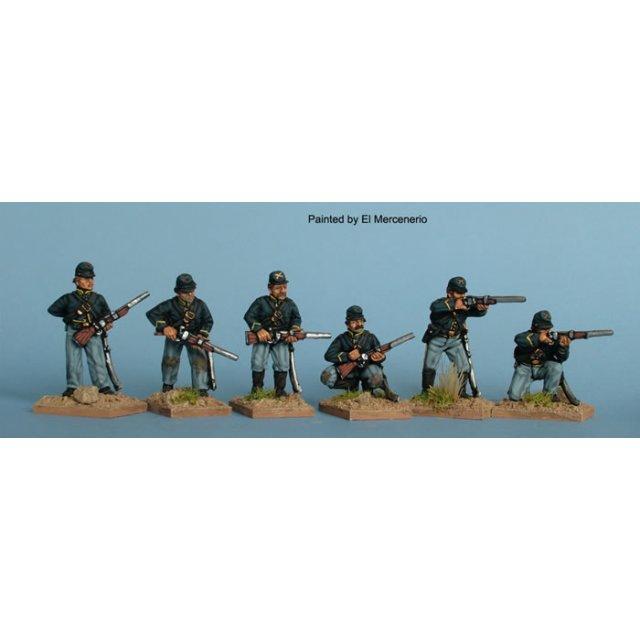 Dismounted Union cavalry skirmishing