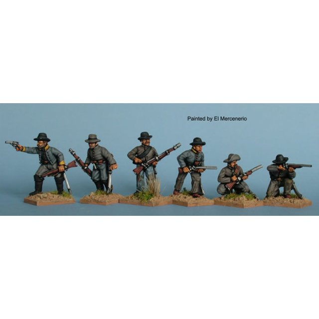Dismounted Confederate cavalry skirmishing