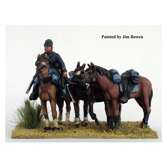 Union horse holder, plus 4 horses