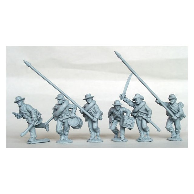 Confederate Infantry command running