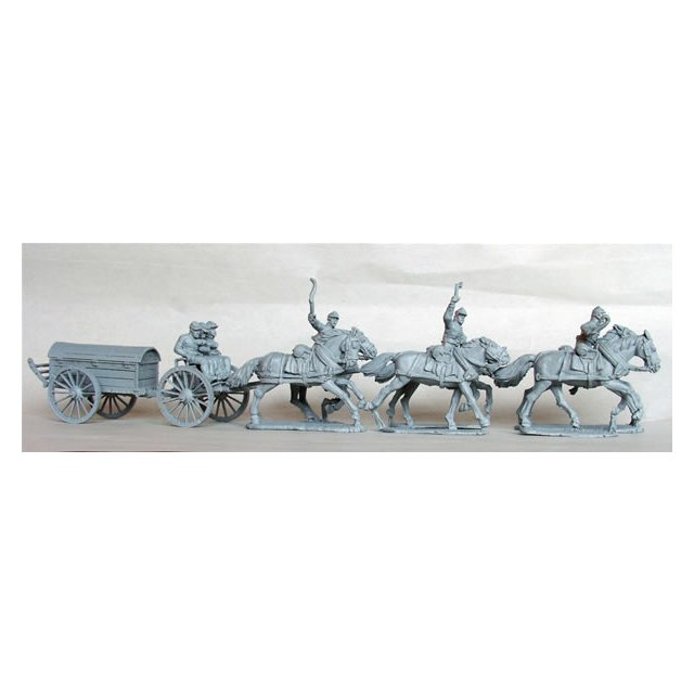 Union Battery wagon and team at full gallop