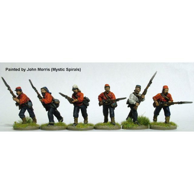 New York Fire Zouaves (second uniform) advancing