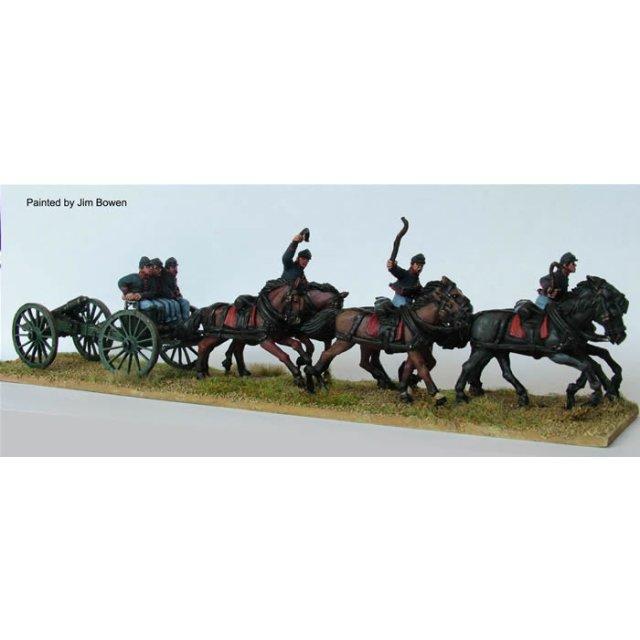 Union six horse limber at full gallop plus gun