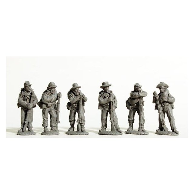 Confederate Infantry standing, full kit