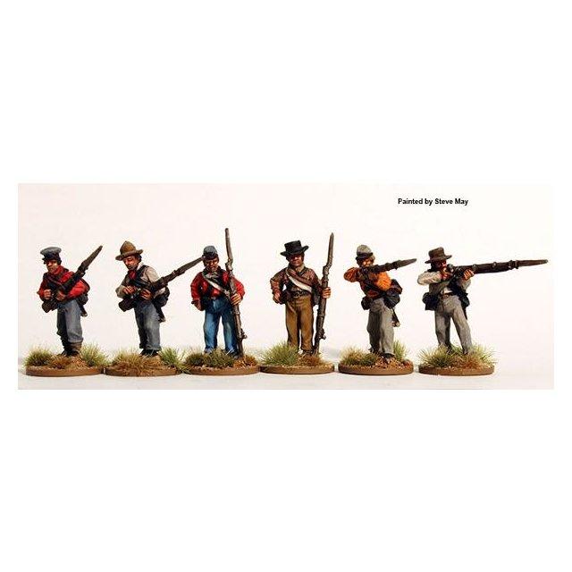 Confederate firing line, shirts