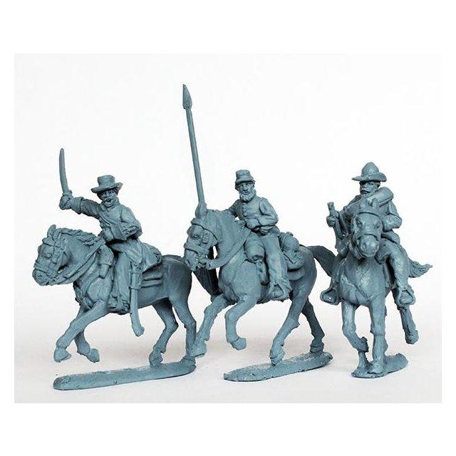 Confederate cavalry command galloping