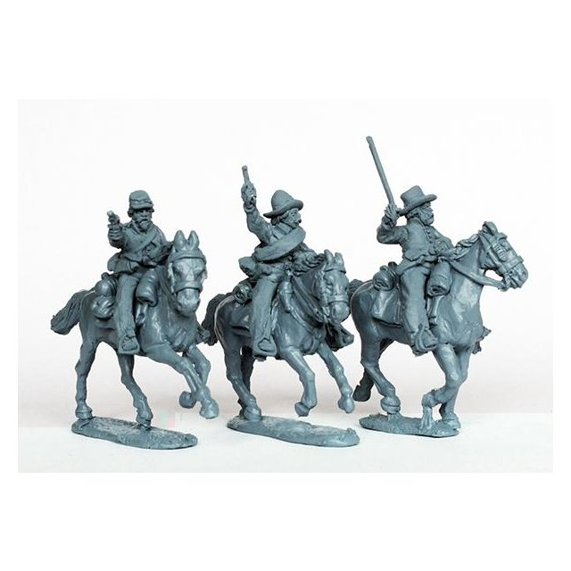 Confederate cavalry charging swords and pistols
