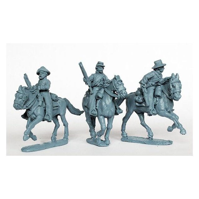 Confederate cavalry with shotguns and carbines, galloping
