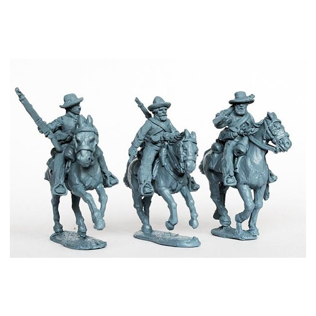 Confederate cavalry with rifles, galloping