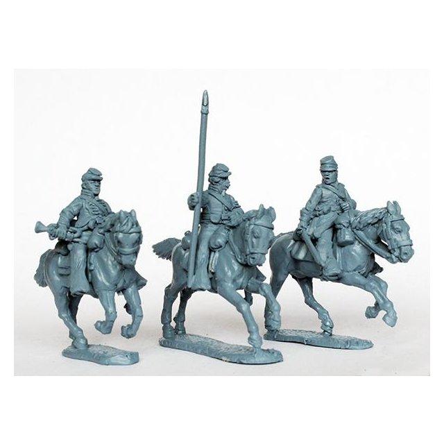 Union cavalry command galloping