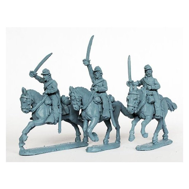 Union cavalry charging, swords