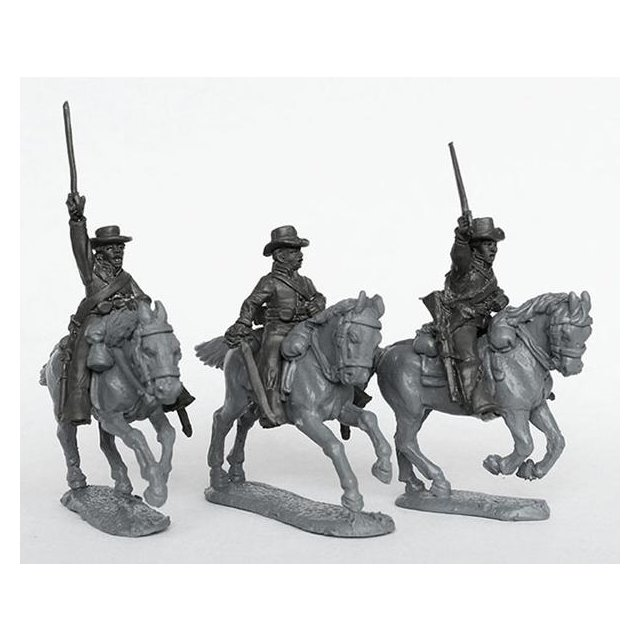 Union cavalry in slouch hats, charging