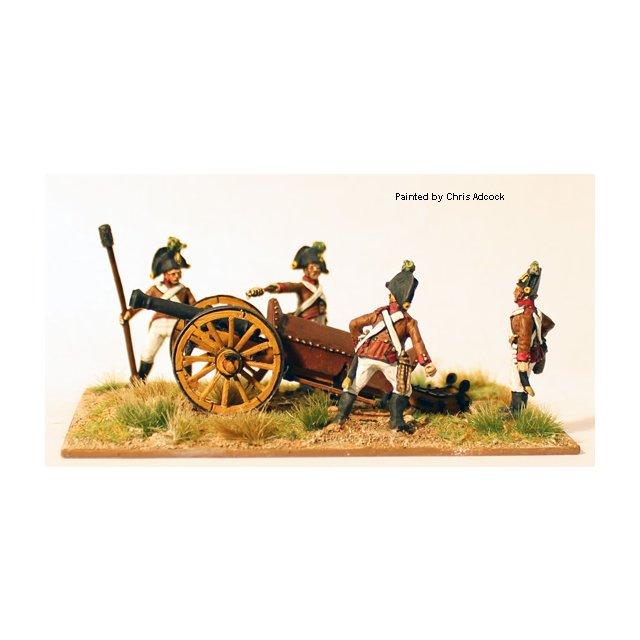 Artillery firing 6pdr Wurst